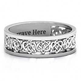 Sterling Silver Half Eternity Celtic Ring