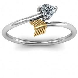 Sterling Silver Heart & Arrow Ring