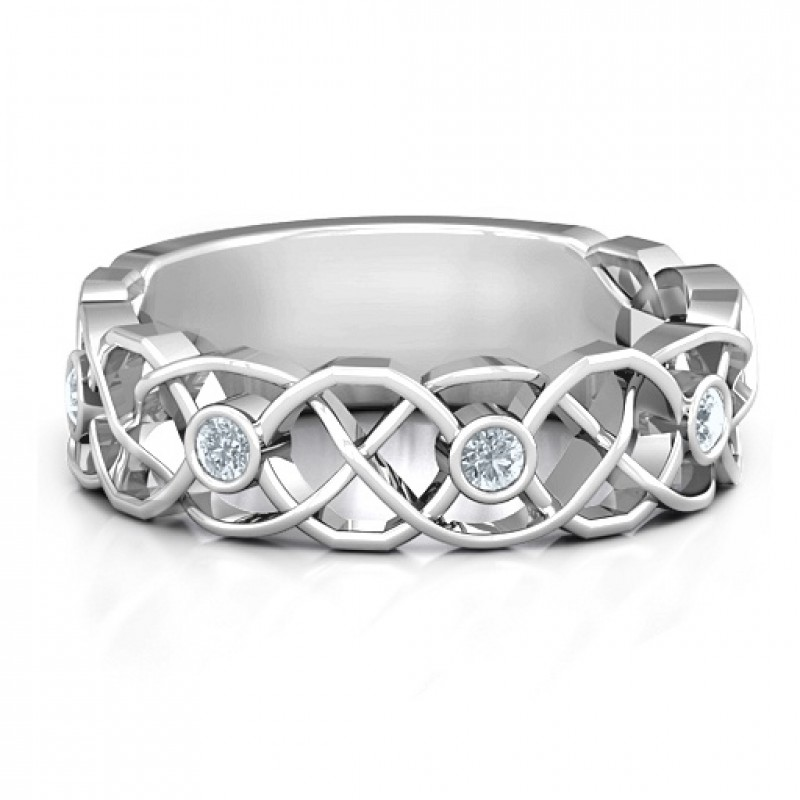 Sterling Silver Intertwined Love Band Ring