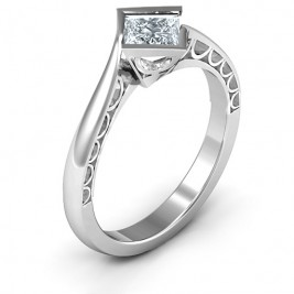 Sterling Silver Krista Princess Cut Ring