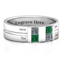 Sterling Silver Leonidas Grooved Men's Ring