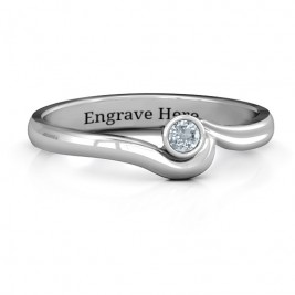 Sterling Silver Low Wave Ring