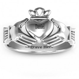 Sterling Silver Men's Classic Celtic Claddagh Ring