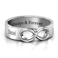 Sterling Silver Men's Expression of Infinity Band