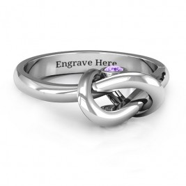 Sterling Silver Modern Infinity Heart Ring