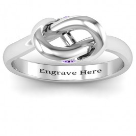 Sterling Silver Modern Infinity Heart Ring