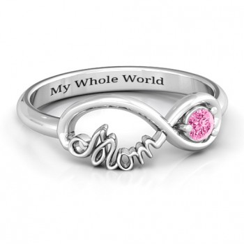 Sterling Silver Mom's Infinity Bond Ring