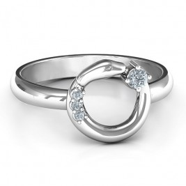Sterling Silver Ouroboros Snake Ring