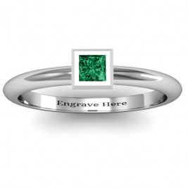 Sterling Silver Ovation Classic Princess Setting Ring