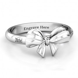 Sterling Silver Papillon Bow Ring