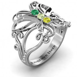 Sterling Silver Precious Butterfly Ring
