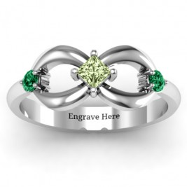 Sterling Silver Princess Infinity Ring