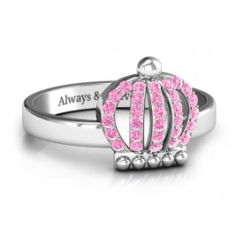 Sterling Silver Queen Of The Castle Crown Ring