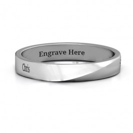 Sterling Silver Ridge Diagonal Peak Women's Ring
