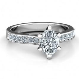 Sterling Silver Shining in Love Ring
