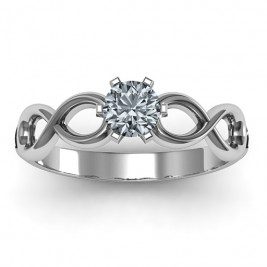Sterling Silver Solitaire Infinity Ring