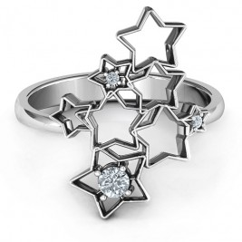 Sterling Silver Sparkling Constellation Ring