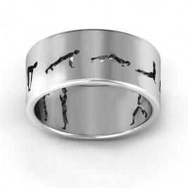 Sterling Silver Sun Salutation Pose Ring