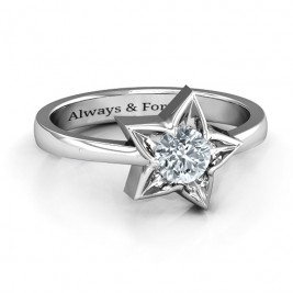 Sterling Silver Superstar Ring