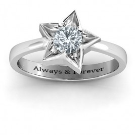 Sterling Silver Superstar Ring