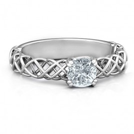 Sterling Silver Tangled in Love Ring