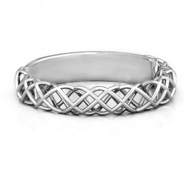 Sterling Silver Woven in Love Ring