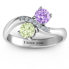 Storybook Romance Two Stone Ring