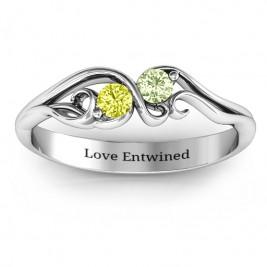 Swirl of Style Birthstone Ring
