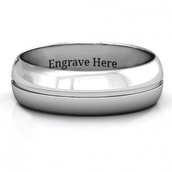 Titus Grooved Men's Ring