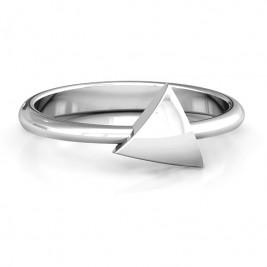 Triangle Pebble Geometric Ring