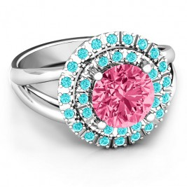 Victoria Double Halo Ring