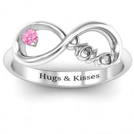 XOXO Infinity Ring