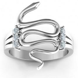 Zig Zag Snake Ring