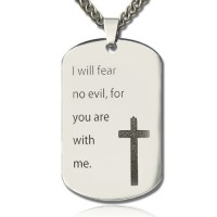 Military Dog Tag Name Necklace
