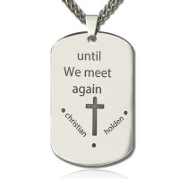 Remembrance Dog Tag Name Necklace