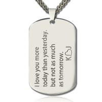 Love Song Dog Tag Name Necklace