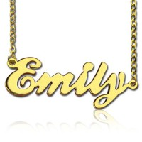Cursive Nameplate Necklace 18ct Gold Plated