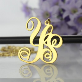 18ct Gold Plated 2 Initial Monogram Necklace