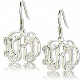 Personalised Sterling Silver Monogram Earrings