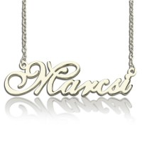 Personalised Nameplate Necklace Sterling Silver