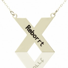 Personalised Silver St. Andrew Name Cross Necklace