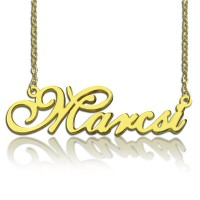 Personalised Nameplate Necklace 18ct Gold Plated