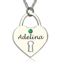 Personalised Heart Keepsake Pendant with Name Sterling Silver