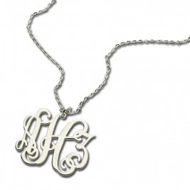 Personalised Taylor Swift Monogram Necklace Sterling Silver