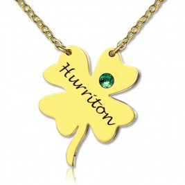 Good Luck Things - Clover Necklace 18ct Gold Plated