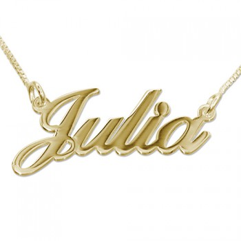 18ct Gold Classic Name Necklace - Super Thickness