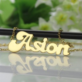 Ghetto Cute Name Necklace 18ct Gold Plated