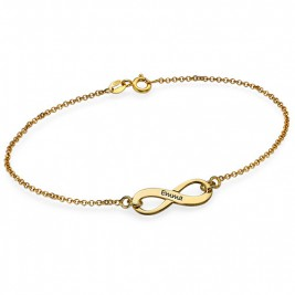 Men's Gold, Silver & Crystal Infinity Name Anklet & Bracelets