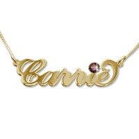 18ct Gold-Plated Carrie Swarovski Name Necklace