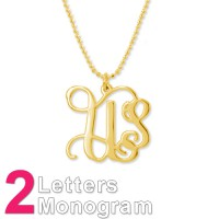 18ct Gold Plated Sterling Silver Initials Necklace